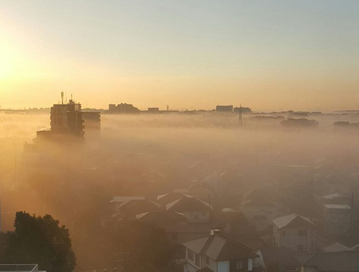 関東濃霧発生でリアルサイレントヒル?ツイッター画像がすごい!