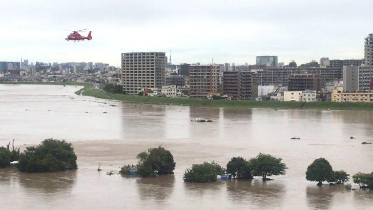 多摩川氾濫の可能性で現在の水位は?台風19号接近にツイッターの声