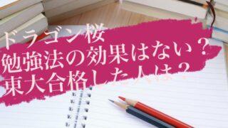 ドラゴン桜 勉強法 効果はない?
